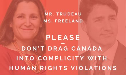 Send post card to Chrystia Freeland re: human rights situation in Chile